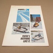 Vintage Snowmobile 1974 Raider Twin Track (There's Nothing Like It) Brochure