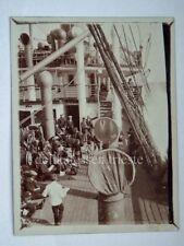 NAVE SHIP vecchia foto lloyd liner paquebot terza classe ponte 1920