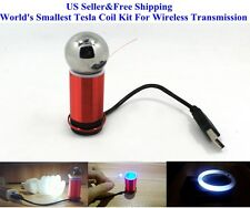 US World's Smallest 5V/1W Tesla Coil Kit For Wireless Transmission Experiment