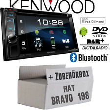 Radio Kenwood für Fiat Bravo 198 Bluetooth DAB Digital DVD USB CD MP3 Einbauset