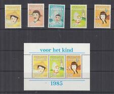 NETHERLANDS ANTILLES, 1985 Child Welfare Fund set of 5 & Souvenir Sheet, mnh.