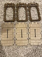 Playmobil Castle Wall Kings Medieval Brown Wood Window Slit 3666 3667 Parts Lot