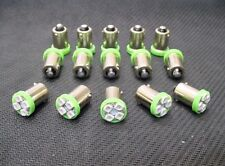 15 COOL Green LED Instrument Panel Dashboard BA9S 57 1815 1895 Lights Bulbs GM
