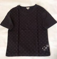 Gap Brown Embroidered T-shirt Top -Size XS (UK 6-8)