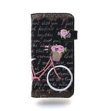 SHAGWEAR Wallet Black Snap Tab Zippered Wallet ~ Paris Bicycle Design ~ New