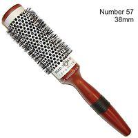 Ceramic Hair Brush Radial Round 38m Grip Handle Wooden Head Jog Brush No. 57