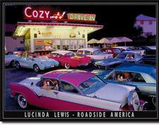 Lucinda Lewis 50s Diner Drive-In Motiv US-Car Poster classic Deko Schild *623