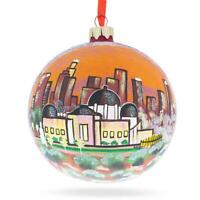 Los Angeles, California Glass Ball Christmas Ornament 4 Inches
