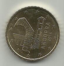 ANDORRA - 50 EURO CENTS 2014 UNCIRCULATED NEW ISSUE. ORIGINAL. 3DG 10feb