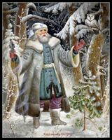 Arctic Santa Claus 2 - Chart Counted Cross Stitch Pattern Needlework DMC Color