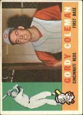 1960 Topps Baseball Card #257 Gordy Coleman RC - VG