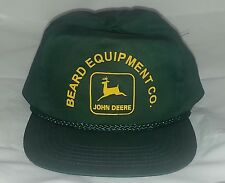 John Deere Hat Beard Equipment Co. Green Snapback Baseball Ball Cap Farm Farmer