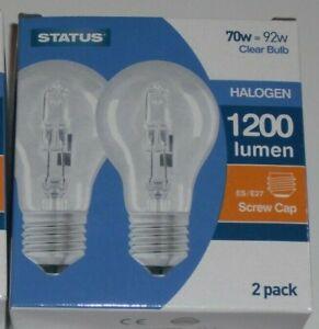 PROPER OLD FASHIONED LIGHT BULBS DIMMABLE HALOGEN GLS  ES E27 SCREW CAP 70W,100W