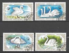Oiseaux Mongolie (64) série complète de 4 timbres oblitérés