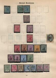 BRITISH HONDURAS: Queen Victoria - Ex-Old Time Collection - Album Page (41019)