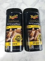 2 Meguiar's G10900 Gold Class Rich Leather Cleaner And Conditioner Wipes 25 ct