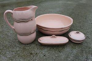 Antique Boch La Louviere Landen 1 / Wash Jug & Bowl Pitcher Basin Soap dish #736