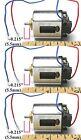 "3pc 1960s Mabuchi Japan Cox TTX-200 Can-Side Chrome Motor 0.095"" Shaft NOS 1/24"