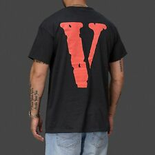 Vlone V-Lone Black and White Streetwear Friends T-Shirt as worn by ASAP Rocky