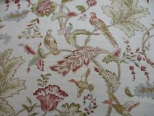 MULBERRY FABRIC 'EARLY BIRDS - NATURAL' 2.4 METRES (240cm) - 100% Linen