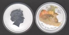 *  Australien Lunar II  2 Unzen Maus 2008 coloriert 2 Dollars gekapselt *