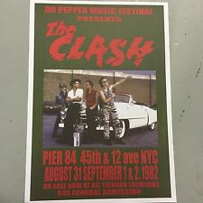 THE CLASH - CONCERT POSTER PIER 84 NEW YORK U.S.A. 1982    (A3 SIZE)
