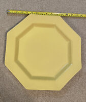 VINTAGE DAFFODIL YELLOW OCTAGON PLATTER 14 IN. INDEPENDENCE IRONSTONE INTERPACE