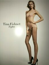 Wolford Tina Fishnet Tights Size: Medium  Color: Deep Blue 19218 - 06