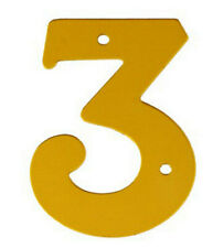 2'' Gold Anodised Numeral 3