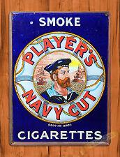 "TIN SIGN ""Player's Navy Cut"" Tobacco Rustic Cigarettes Garage Wall Decor"