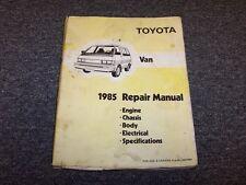 1985 Toyota Van Shop Service Repair Manual LE Panel Cargo Deluxe Passenger 2.2L