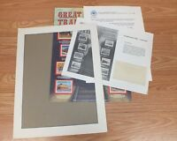 Authentic Great Trains World Of Stamps Collectible Series Sheet W/ COA *READ*