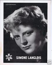 PHOTO SIMONE LANGLOIS DISQUES PATHE