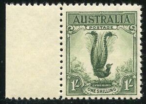 1932 LYREBIRD Acsc 145A~SG140 GREEN NO WMK GREEN MNH.