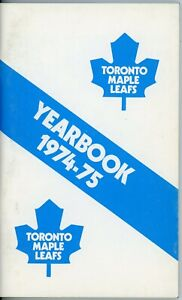 Toronto Maple Leafs Yearbook/Press guide 1974-754 Official Guide and Records