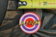 A-Tach Bodyboards Pro Body Boards Target 80's Og Red Purple V19a Surfing Sticker