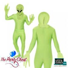 ADULT GREEN ALIEN SECOND SKIN COSTUME Halloween Bodysuit Fancy Dress 28582