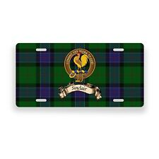 Sinclair Scottish Clan Hunting Tartan Novelty Auto Plate Tag  License Plate