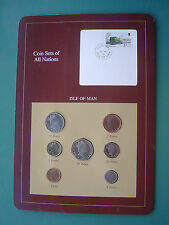 Isle of Man 1990 Penny-Pound 7 Coins Franklin Mint Set