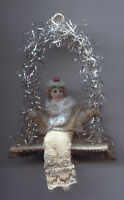 Weihnachtsschmuck Christbaumschmuck Watte Mädchen Oblate Schaukel Spitze+Tinsel