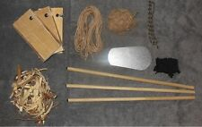 Hand Drill Kit Fire Starting Set With Tinder Nest - Jute - Char cloth - And More
