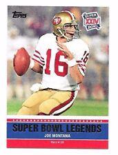 2011 Topps Super Bowl Legends Joe Montana #XXIV