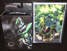 SDCC 2018 POWER RANGERS PSYCHO GREEN RANGER w/ COMIC VARIANT #28 w/ ULTRA PRO!