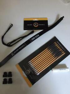 "SET: limb Cobra 80 lbs + 10 continous alu bolts, string 17,25"", 4 caps. lube, UK"