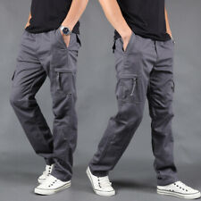 US Mens Cargo Trousers Pocket Work Pant Tactical Military Combat Casual Travel