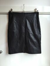 Gorgeous All Saints Black Soft Leather Lucille Skirt UK 6 Worn Twice!