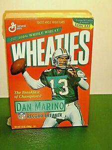 1995 WHEATIES DAN MARINO RECORD BREAKER CEREAL BOX