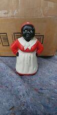 Vintage Black Americana Aunt Jemima Cast Iron Coin Bank/Door Stop