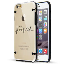For Apple iPhone Slim Clear TPU Hard Case Heart Beats Dentist Tooth Heart Love