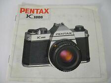 PENTAX K1000 Genuine Original User Instruction Manual Booklet 32 PAGES